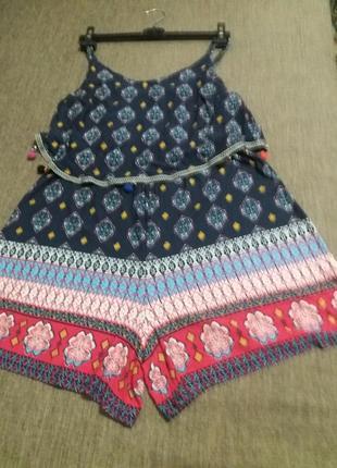Ромпер/комбинезон с шортами  из натуральной ткани. george