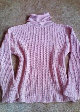 Нежный свитер-гольф*48-52р.