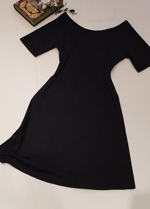 Чёрное платье зара
