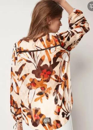 Massimo dutti блузка с визерунком