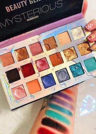 ✨🌈ретрограданая палетка теней для век beauty glazed mysterious eyeshadow palette (18 color)