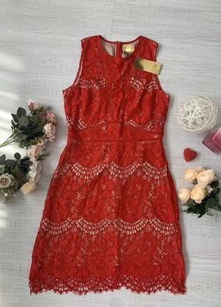 Красивое кружевное платье h&m