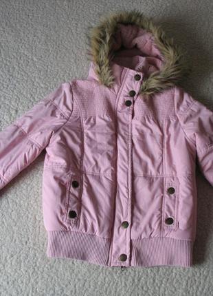 Розовая куртка denim co