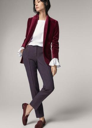 Шерстяные брюки в клетку massimo dutti