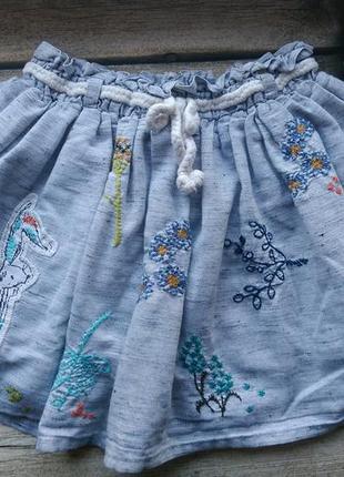 Очень красивая юбка с вышивкой