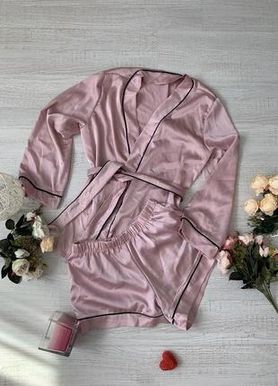 Женский пижамный костюм, одежда для дома