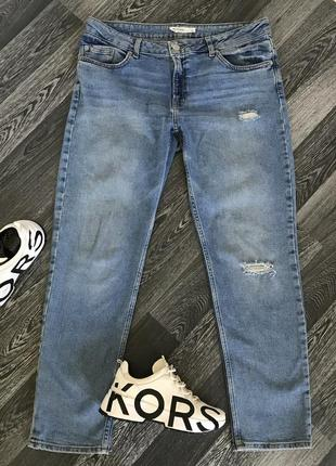 Базовые женские джинсы синие бойфренд gigi girlfriend3 фото