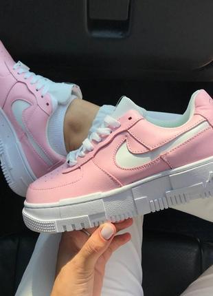 Кроссовки найк женские пиксель nike pixel pink аир форс кеды обувь взуття для девушки