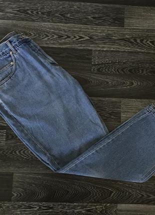 Базовые женские джинсы мом бойфренд с высокой посадкой синие