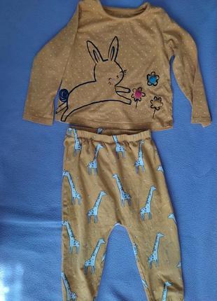Стильные костюм 74-80 см горчичный мальчику девочке