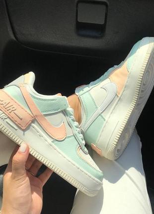 Кроссовки найк женские аир форс кеды обувь взуття кросівки nike air force shadow