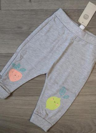 Тонкие легкие хлопковые спортивные штаны ползунки штани повзунки 68 74 cool club