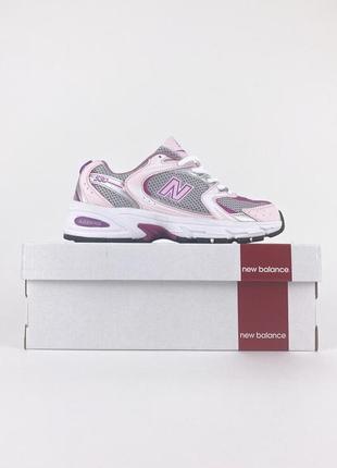 Стильные женские легкие кроссовки new balance 530 pink розовые в сеточку