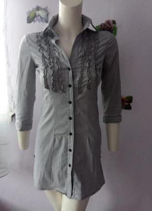 Плаття- рубашка в полосочку