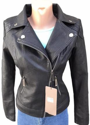 Куртка шкіряна кожаная женская косуха кожанка