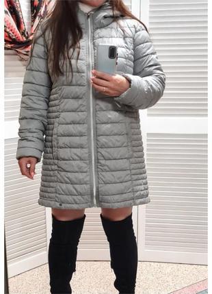 Стеганная удлиненная куртка next