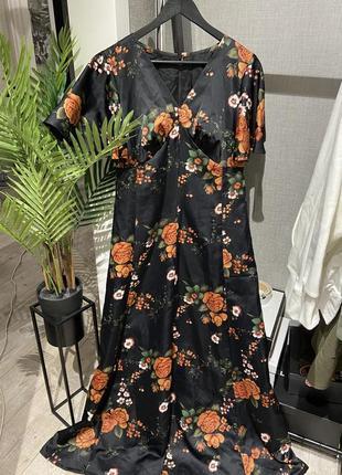 Шикарное дизайнерское вечернее платье в пол