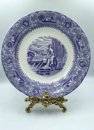 Антикварная углублённая тарелка gustafsberg