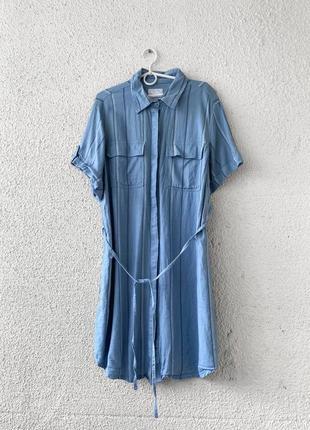 Льняное платье рубашка