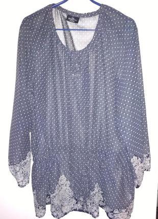 Шифоновая туника блузка gina benotti, р.48-50 (xl)