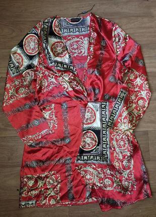 Туника в китайском стиле, легкая кофточка, халатик