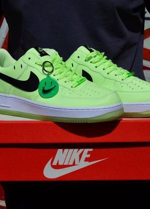 Nike air force 1 smile флуоресцентные мужские кроссовки светятся в темноте 40-45