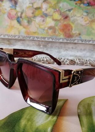 Эксклюзивные брендовые коричневые солнцезащитные очки унисекс millionaire 2021