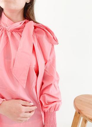 Хлопковая розовая блузка