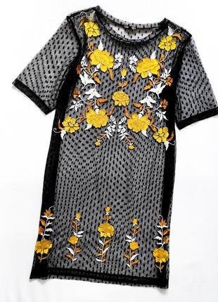 Красивая прозрачная футболка платье