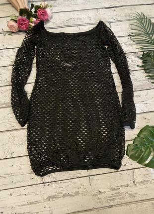 Пляжное платье сетка накидка asos
