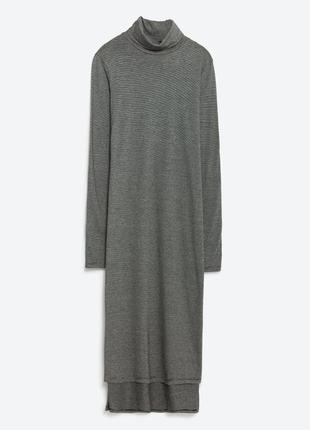 Длинный гольф - платье в полоску zara, s