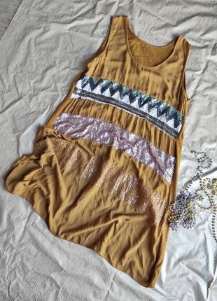Платье лёгкое с пайетками