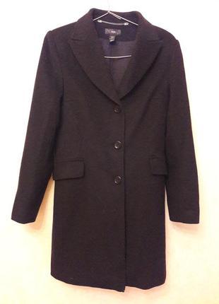 Пальто базовое прямое классическое h&m ,36-38р, шерсть