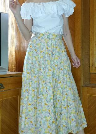 Блуза со спущенными открытыми плечами волны оборки miss selfridge