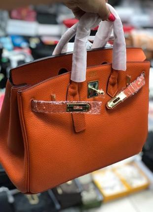 Кожаная сумка в стиле hermes birkin биркин эрмес ⠀