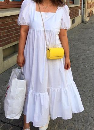 Новое хлопковое платье h&m, большой размер, батал. размер 2xl.