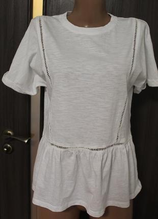 Трикотажная футболка f&f в идеальном состоянии l