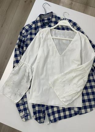 Белая блузка massimo dutti