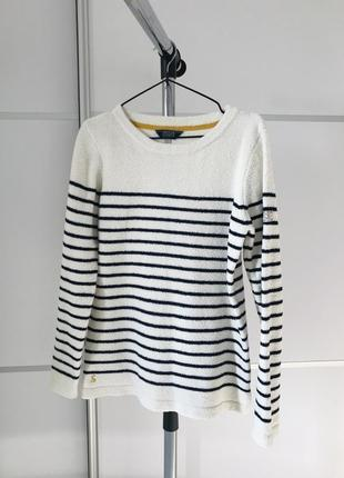Теплая кофта свитер на зиму joules knitwear теплый джемпер мягкая кофточка полосатая.