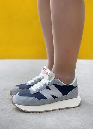 Женские кроссовки new balance 237 blue/grey