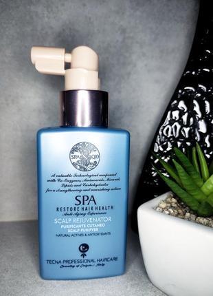 Tecna гликолевый пилинг для кожи головы spa q10 scalp rejuvenator