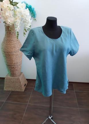 Блуза франция лен4 фото