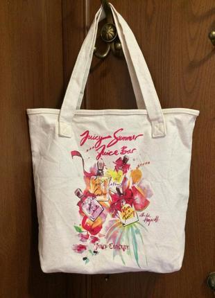 Тканевая сумка шоппер juicy couture
