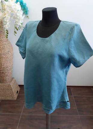 Блуза франция лен7 фото