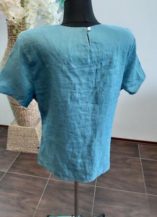 Блуза франция лен6 фото