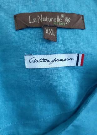 Блуза франция лен9 фото