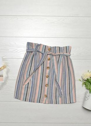 Стильна юбка в полоску на гудзиках new look.
