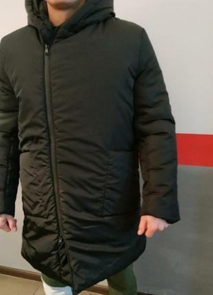 Крутая удлинённая куртка , оверсайз,пальто зимнее, размер м/л.
