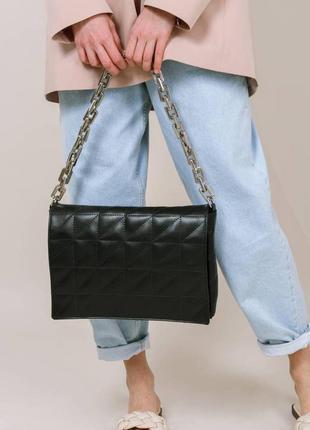 Клатч сумка с цепью