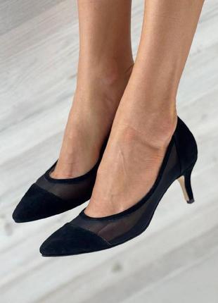 Роскошные туфли лодочки на шпильке 6 см